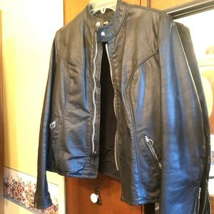 Brooks Real Leather Biker Moto Jacket VINTAGE